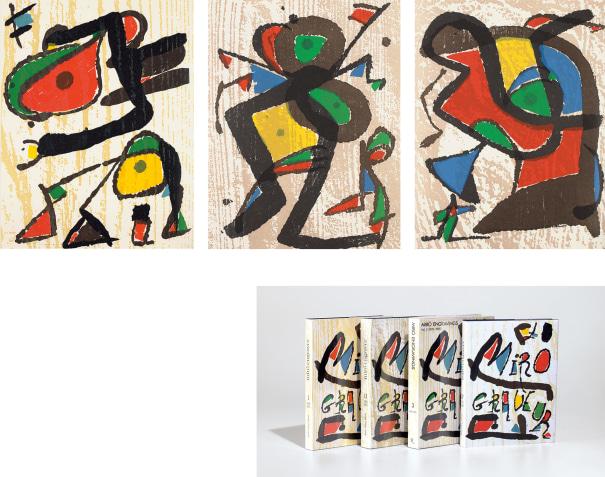 Miró Engraver Catalogue Raisonné, Vols. I-IV: containing 8 original woodcuts