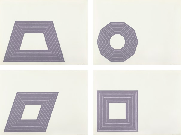 Ileana Sonnabend; D.; Carl Andre; and Hollis Frampton, from Purple Series