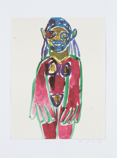 Untitled (Hippie Drawing), from In The Darkest Hour There May Be Light
