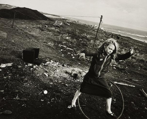 Helen and Her Hula-hoop, Seacoal Beach, Lynemouth, Northumberland