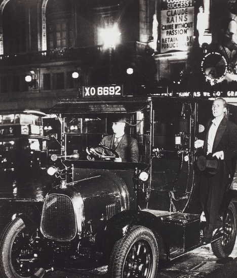 After the Theatre, Taxi in Lower Regent Street