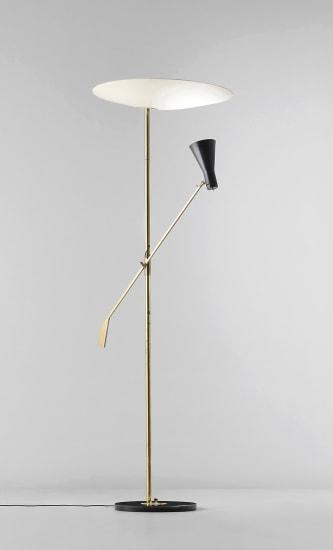 Rare adjustable standard lamp, variant of model no. 1050/1