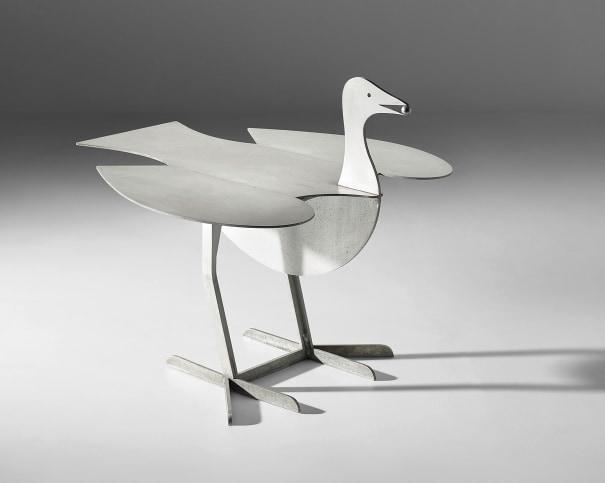 'Oiseau d'argent' extendable side table