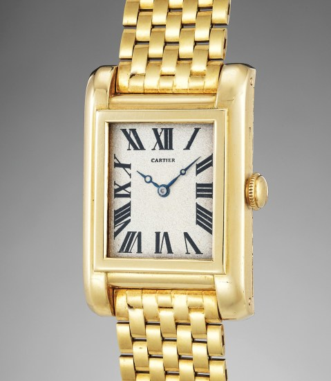 An extremely rare and important yellow gold water-resistant wristwatch with bracelet, formerly given to Count Haugwitz-Reventlow by Barbara Hutton