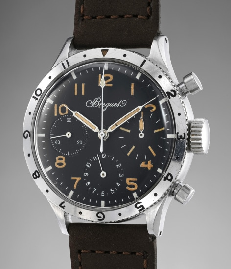 An attractive and well preserved stainless steel flyback chronograph wristwatch