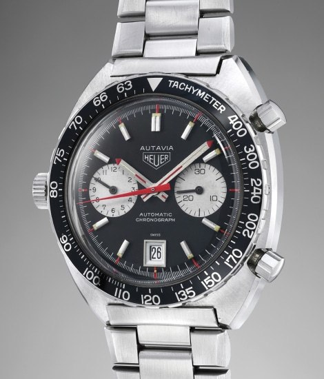 A very attractive and sportive stainless steel chronograph wristwatch with date and red accents on the dial made for Viceroy
