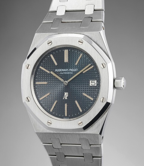 A highly rare and extremely well-preserved stainless steel wristwatch with bracelet