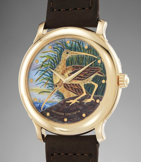 An attractive limited edition yellow gold wristwatch with cloisonné enamel dial