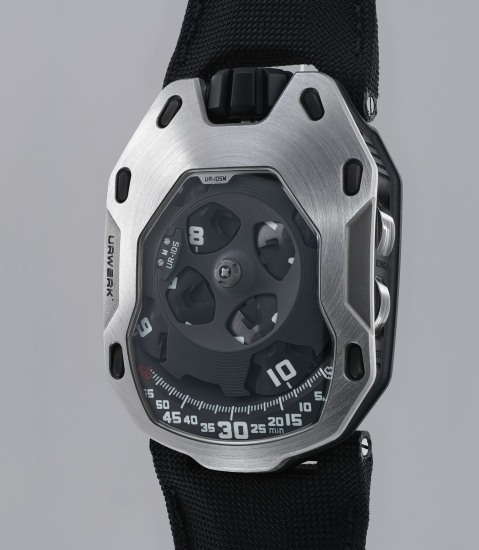 A fine, rare and unusual titanium and stainless steel limited edition wristwatch with three-dimensional satellite hour display and power reserve