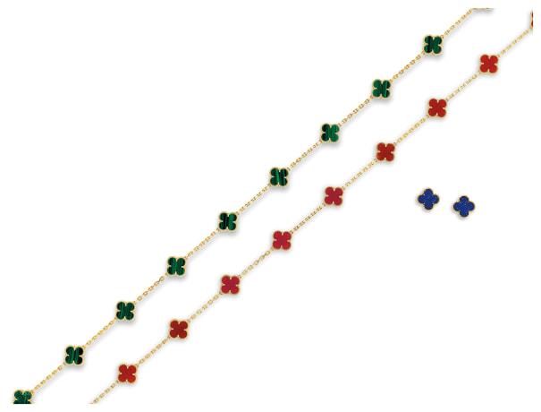 Group of Gem-set 'Alhambra' Jewellery, Van Cleef & Arpels