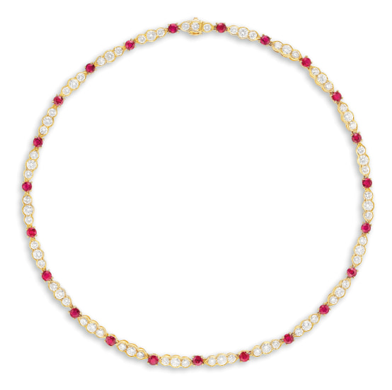 A Ruby and Diamond Necklace, Van Cleef & Arpels