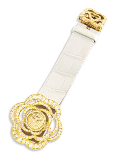 A Diamond 'Fil de Camélia' Wristwatch, Chanel