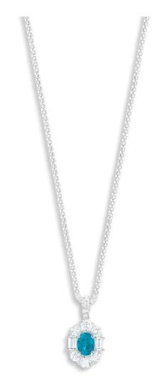 A Paraíba Tourmaline and Diamond Pendant