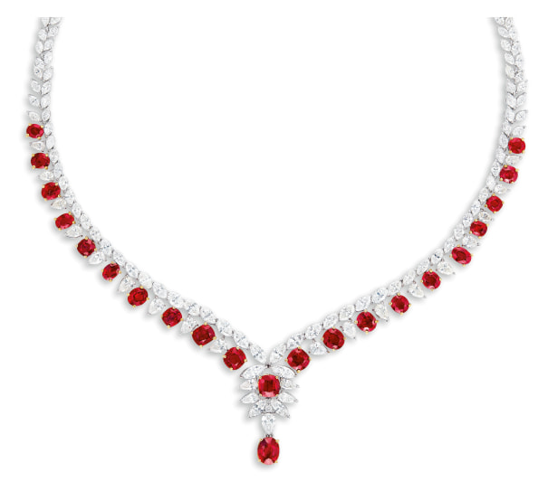 A Fine Ruby and Diamond Necklace