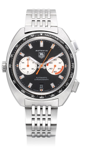 A fine stainless steel chronograph wristwatch with date and bracelet