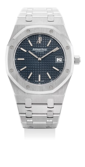 A fine and attractive stainless steel wristwatch with date, bracelet, certificate and presentation box