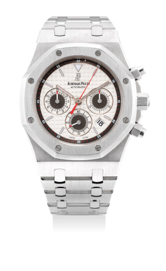 A fine and attractive stainless steel chronograph wristwatch with date and bracelet