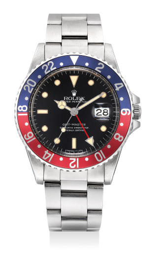 A fine and attractive stainless steel dual-time wristwatch with sweep center seconds, date and bracelet