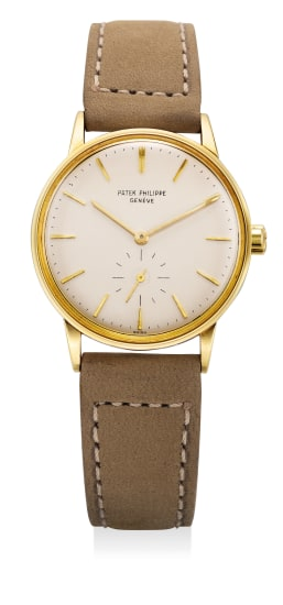 A fine and attractive yellow gold wristwatch with small center seconds