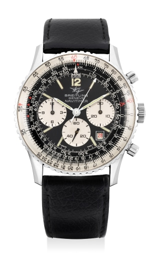 A fine and attractive stainless steel pilot's chronograph wristwatch with date