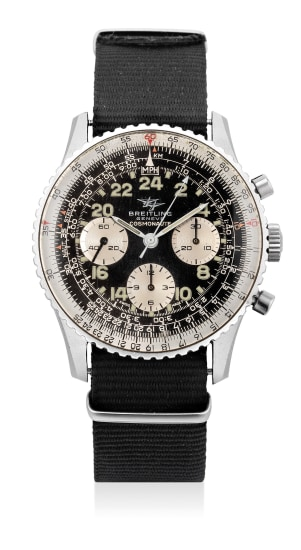 A fine and attractive stainless steel pilot's chronograph wristwatch