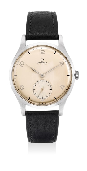 A very fine and attractive stainless steel wristwatch with Arabic numerals and small center seconds