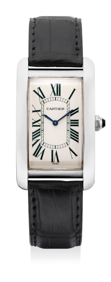 A fine and attractive limited edition platinum rectangular-shaped wristwatch, numbered 01 of a limited edition of 30 pieces