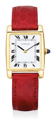 A very fine and attractive yellow gold reversible rectangular-shaped wristwatch