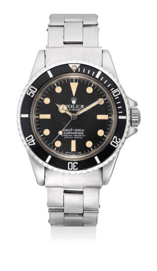A fine and attractive stainless steel diver's wristwatch with bracelet