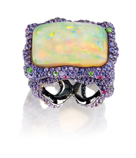 An Opal and Gem-set Ring
