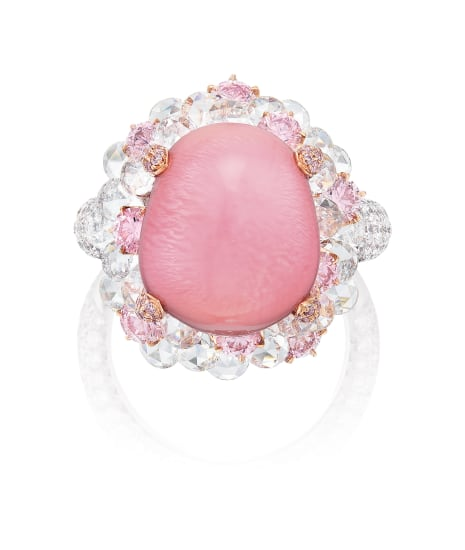 A Conch Pearl, Pink Diamond and Diamond Ring, Karen Suen