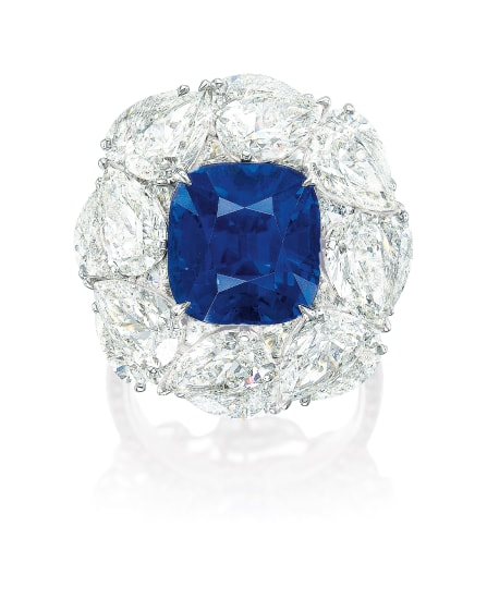 A Superb Sapphire and Diamond Ring