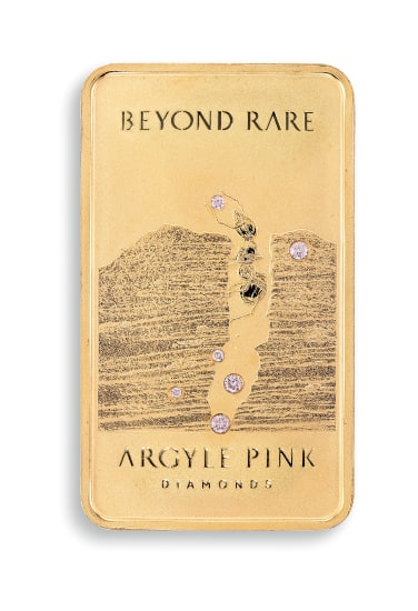A Pink Diamond 'Ant Hill' 22 Karat Pink Gold Commemorative Ingot, Limited Edition, 006/200