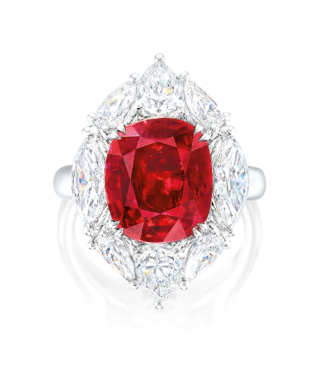 A Rare and Exceptional Ruby and Diamond Ring