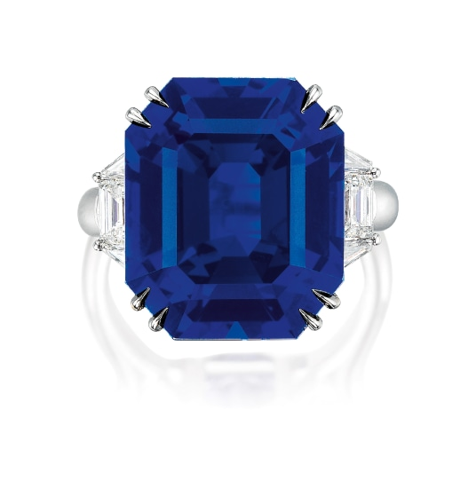 A Very Fine Sapphire and Diamond Ring