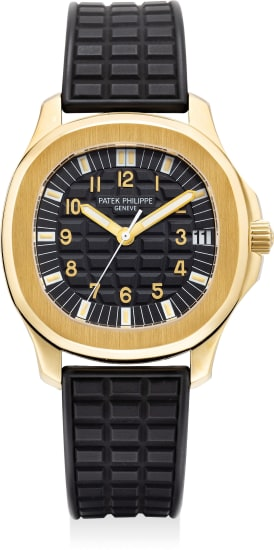 A fine and attractive yellow gold wristwatch with sweep center seconds, date, certificate of origin and presentation box