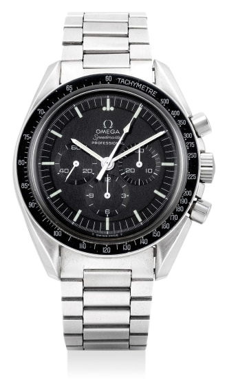 A fine and attractive stainless steel chronograph wristwatch with bracelet