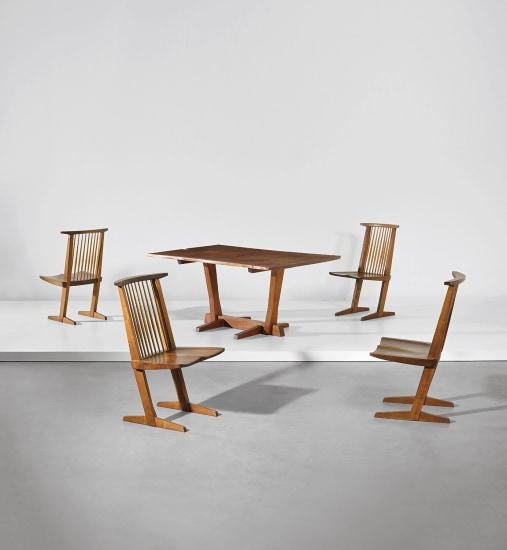 Set of four 'Conoid' dining chairs