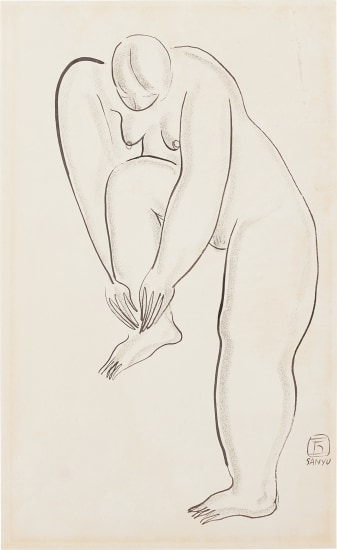 Nu debout, jambe repliee (Standing Nude with Folded Leg)