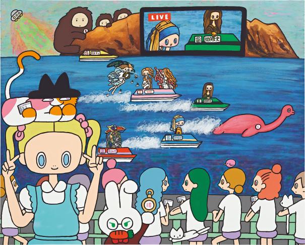 Alice in Bisshi Biwa-lake Boat Race