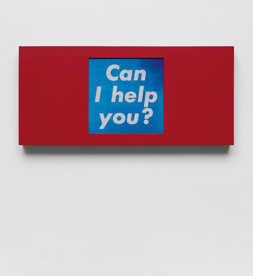 Untitled (Can I help you?/Can I interest you in something in red?/Cash or charge?)