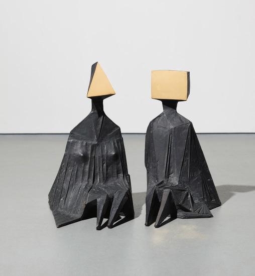 Pair of Sitting Figures 1