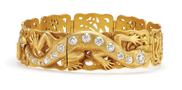 An Antique Diamond and Gold Bracelet