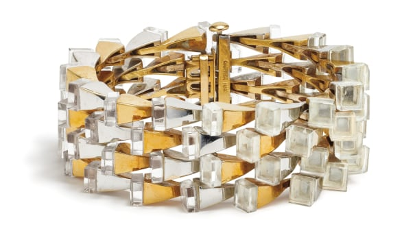 A Rock Crystal and Gold Bracelet