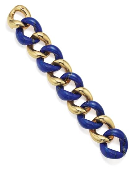 A Lapis Lazuli and Gold 'Classic Link' Bracelet