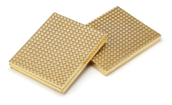 A Set Two of Gold Photo Frames