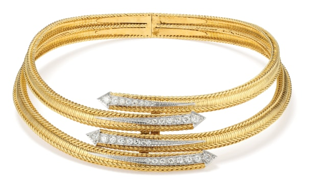 A Diamond, Gold and Platinum Necklace