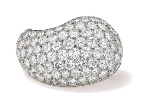 A Diamond, Platinum and Gold 'Paisley' Brooch