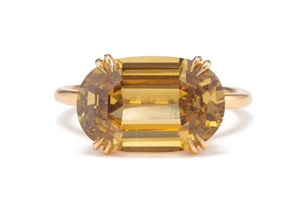 A Fancy Diamond and Gold Ring