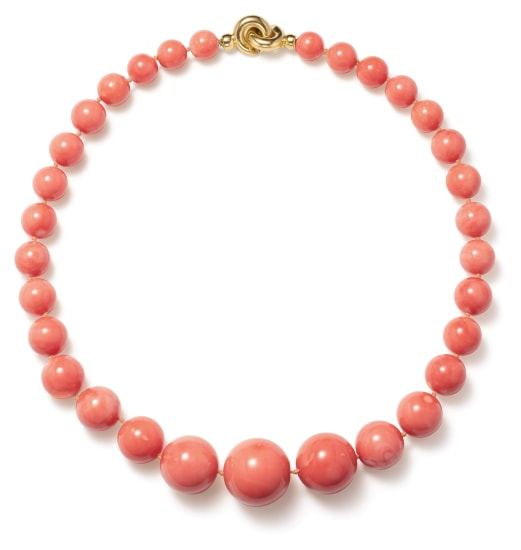 A Coral and Gold Necklace